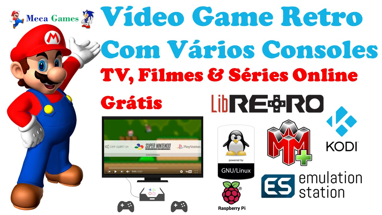 Video Game Retro com Raspberry Pi3, Recalbox e Kodi completo